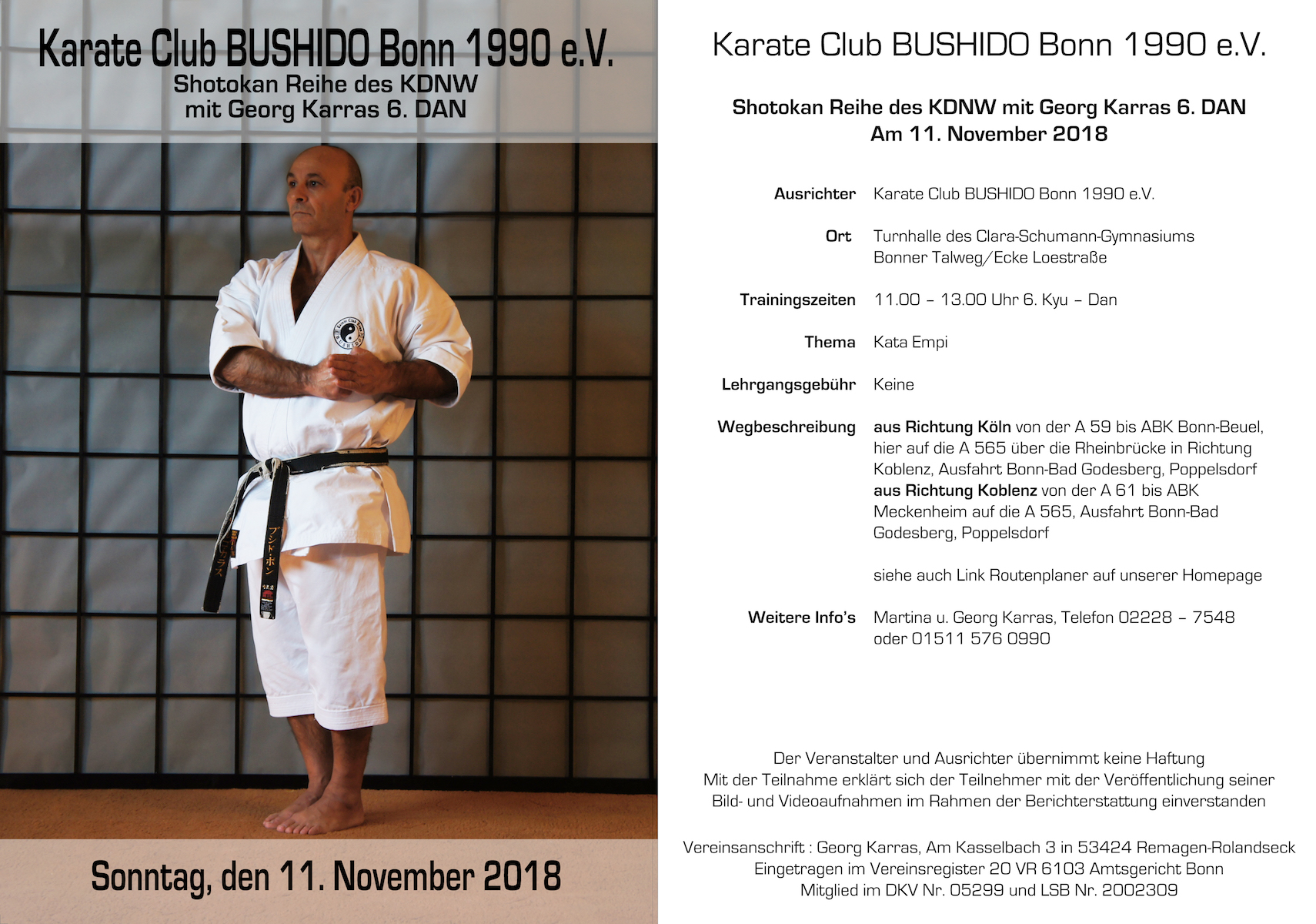 Shotokan Reihe des KDNW mit Georg Karras