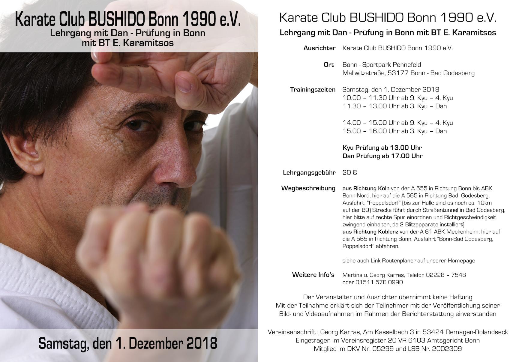 Lehrgang mit Dan - Prüfung in Bonn